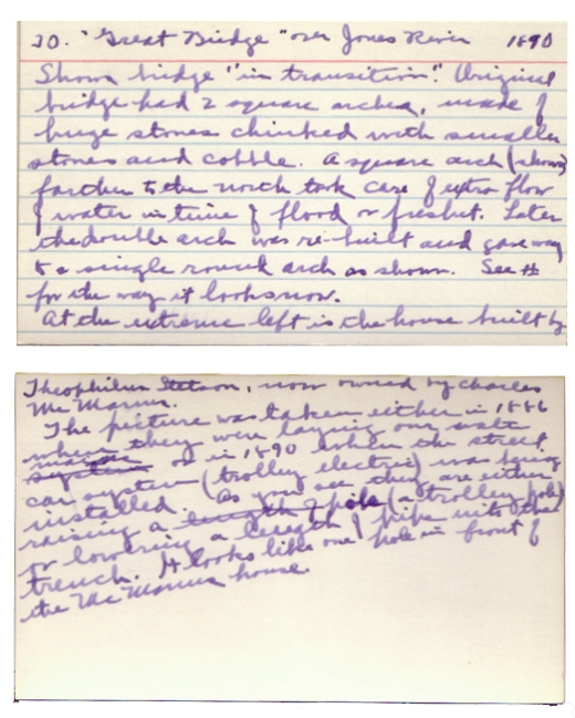Emily Fuller Drew's notes on Lantern Slide 30, ca. 1935