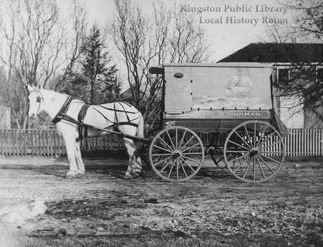 George E. Cushman's delivery wagon