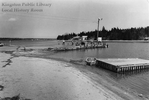 Town landing looking north, 1975