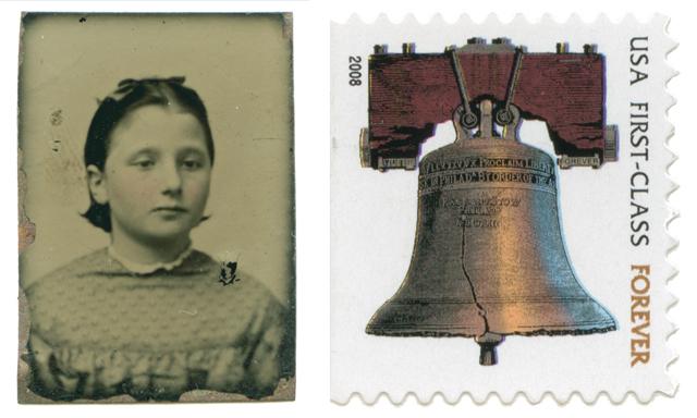Emily Burt Bradford, with stamp, no date
