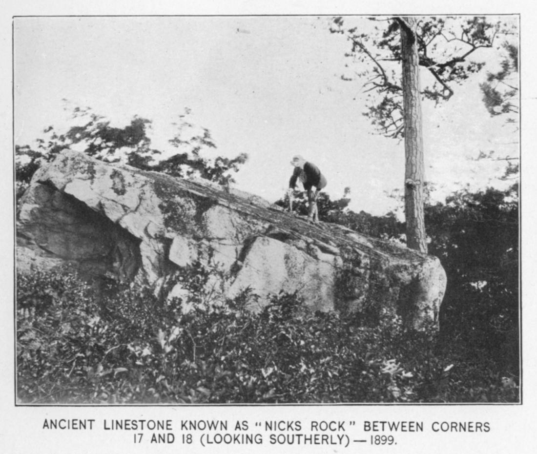 Nick's Rock, 1899