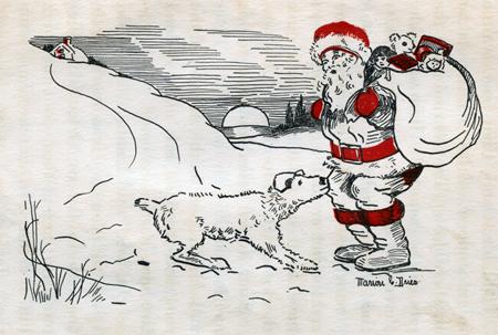 Laddie convinces Santa, 1928
