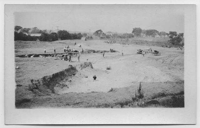 Grading the Playground site, 1923
