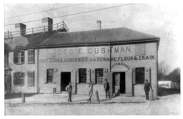 George E. Cushman's Store, circa 1900