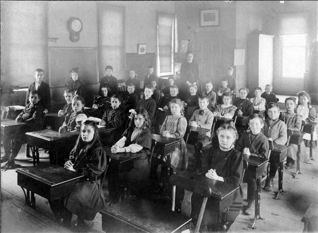 Great Aunt Sarah Cushing Faunce's classroom, circa 1880