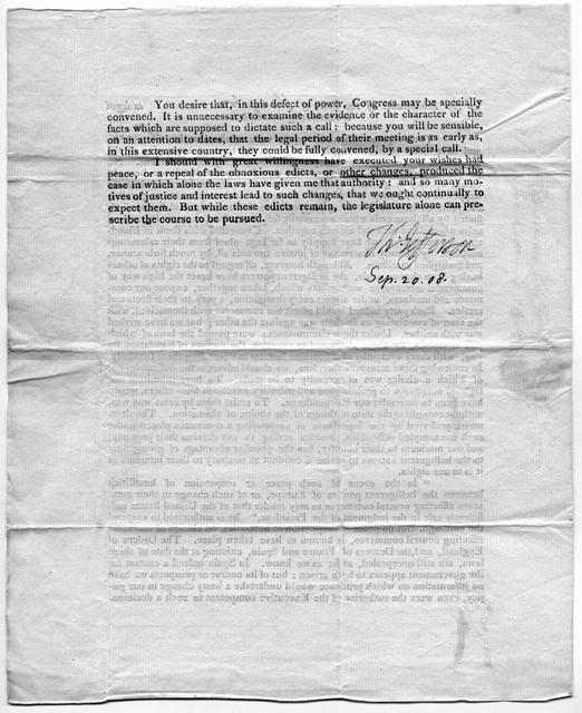 Jefferson letter, page 2, 1808