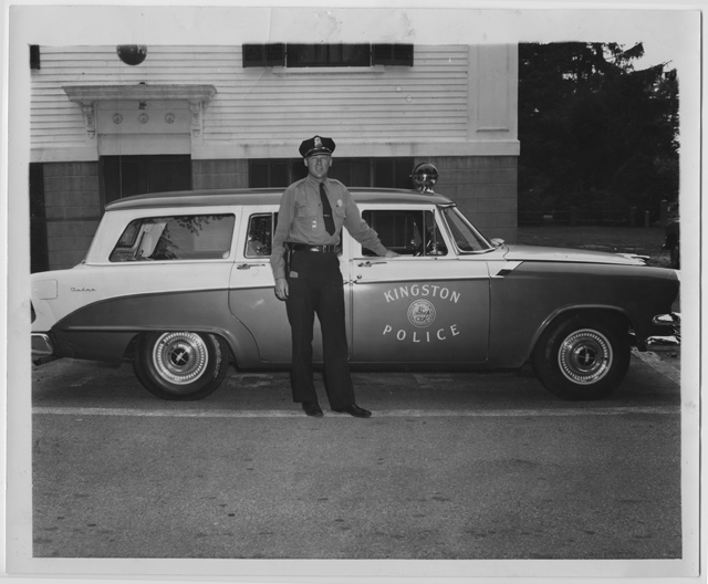 Chief Goonan and the new patrol wagon, circa 1955