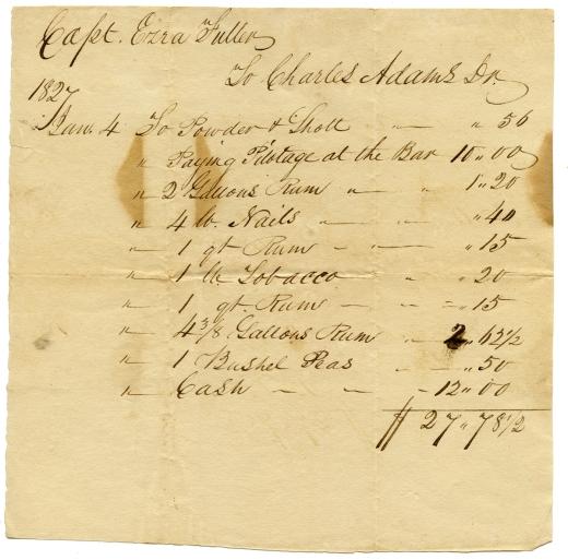 Capt. Ezra Fuller to Charles Adams, Jan. 4, 1827