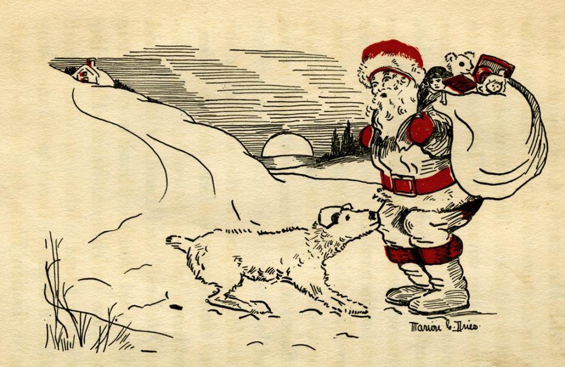 Laddie meets Santa, 1928