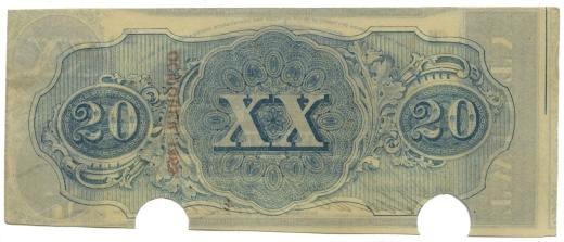 Confederate $20 bill, 1863