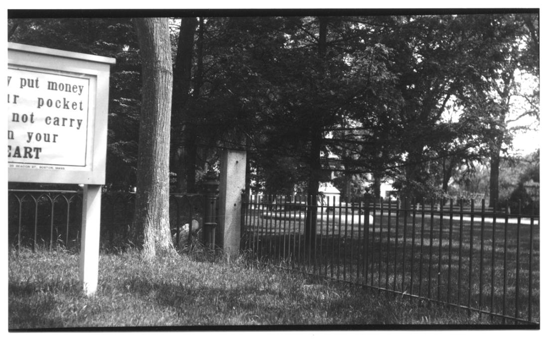 Town post, 1927. Photographer: Emily Fuller Drew