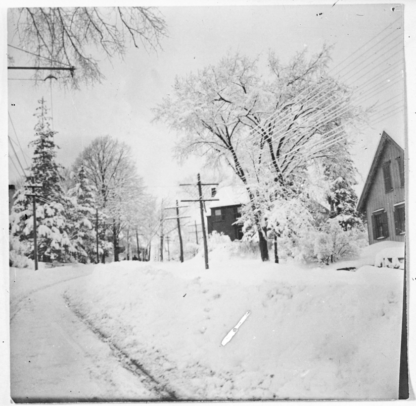 Snow on Main Street, circa 1925