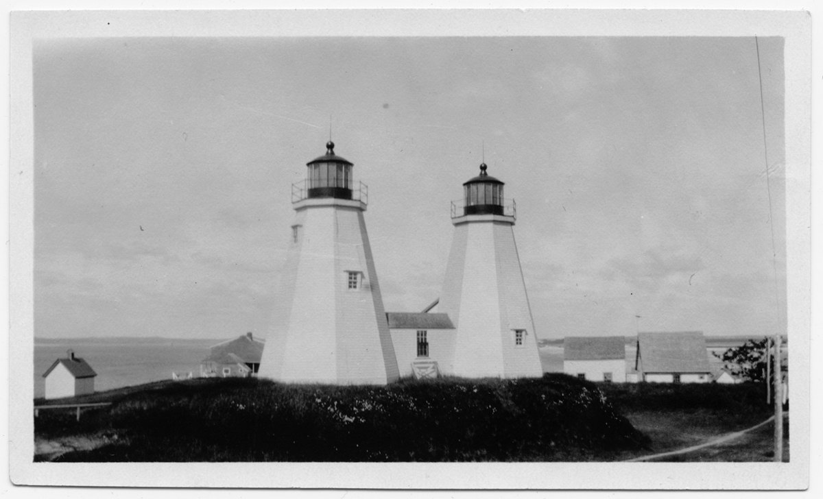 Twin lights at the Gurnet, circa 1920