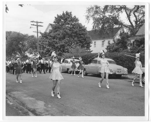 Majorettes on Main Street