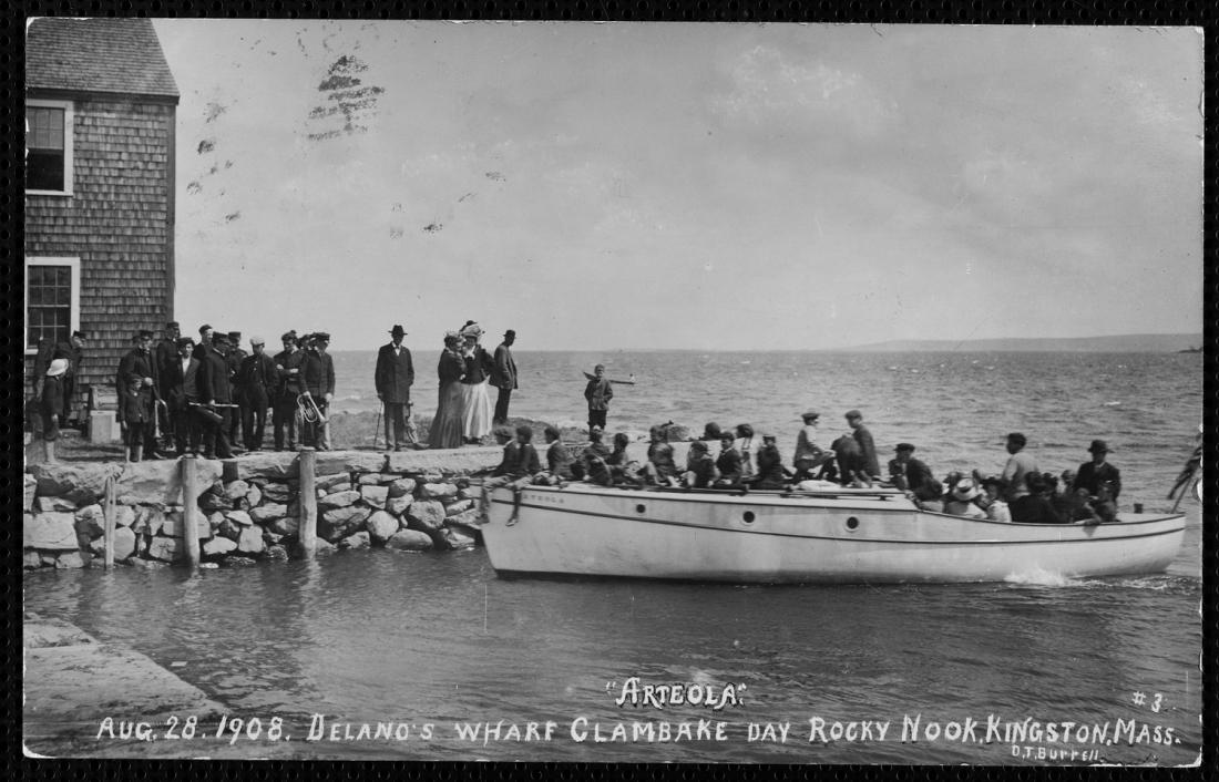 Arteola, at Delano's Wharf, 1908