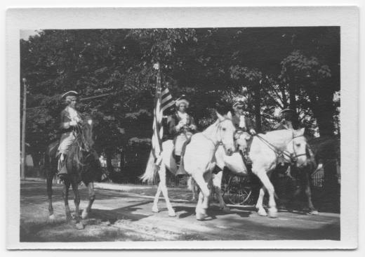 Parade riders, 4th of July Parade, 1910