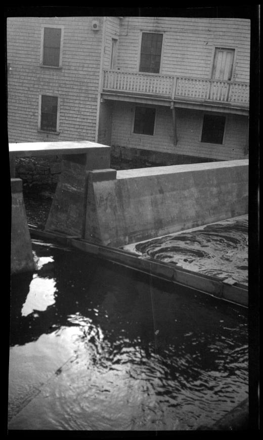 The new Elm Street dam, circa 1925, by E. Bird
