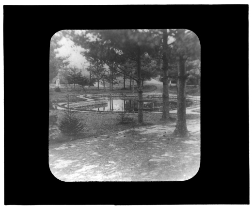 Evergreen Cemetery Pond, 1876
