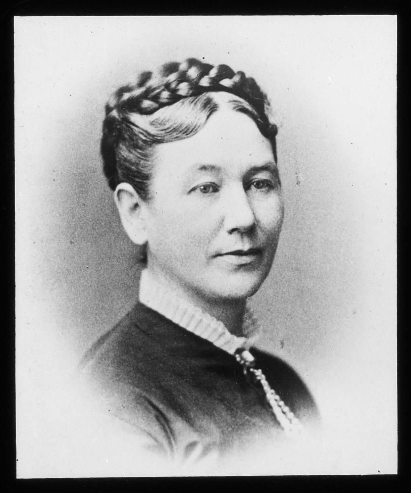 Vesta Snell Carey Keith, portrait, circa 1860